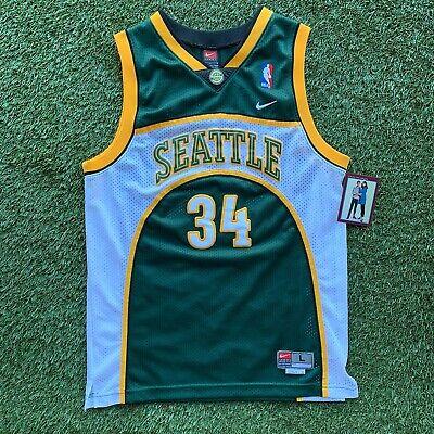 Vintage 90s Nike Ray Allen Seattle SuperSonics Youth L NBA Swingman -