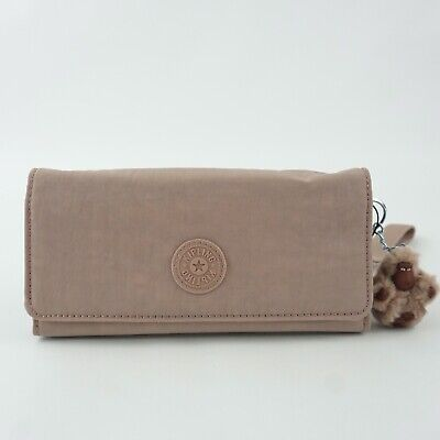 KIPLING RUBI Carryall Wallet Wristlet Antique Rose Tonal