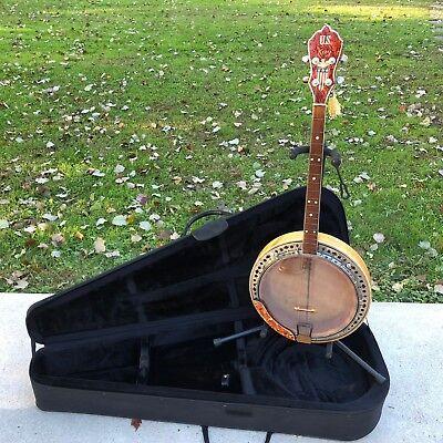 Vintage Kay US Patriotic WWII Tenor Banjo & Case