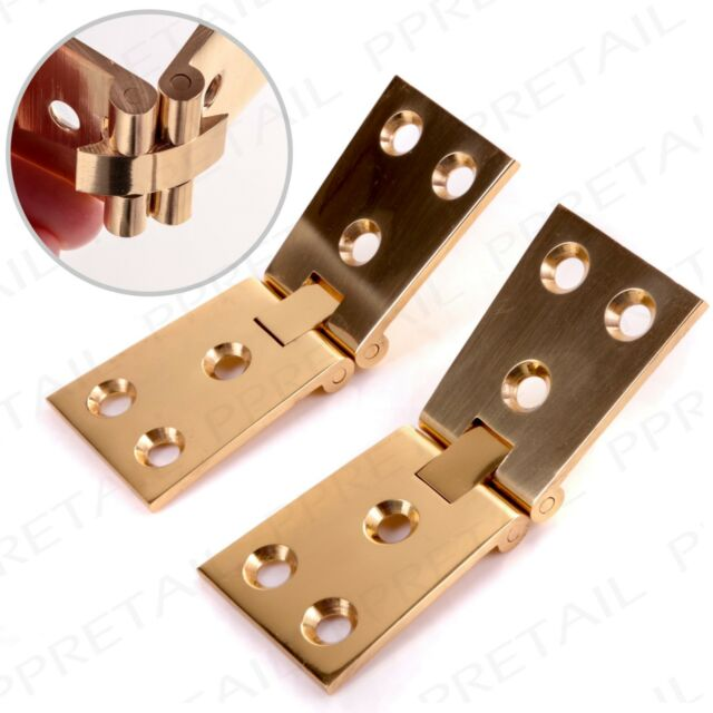 Genial SOLID BRASS COUNTERFLAP HINGE PAIR 32mm Quality Tapered Counter Top Open  Flap