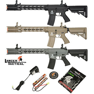 Lancer Tactical G2 Interceptor SPR M4 AEG Auto Airsoft Rifle Black Tan or Gray