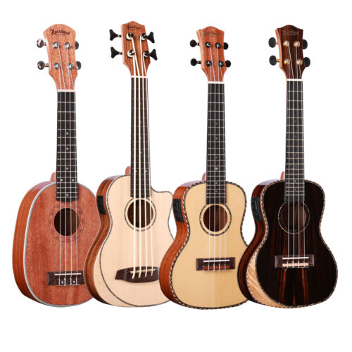 New Muzikkon Heartland Ukulele with EQ, Soprano, Concert & Tenor Ukulele Solid