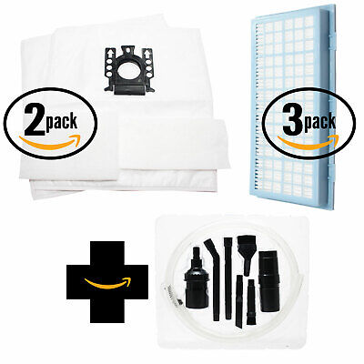 4 Vacuum Bags, 4 Micro & 3 HEPA Filters for Miele Titan, S2 w/ Micro Kit