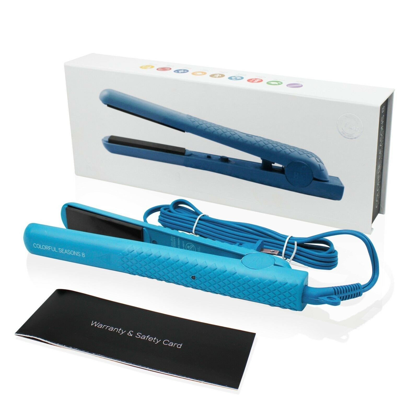 Herstyler Colorful Seasons Ceramic Flat Iron, Dual Voltage,