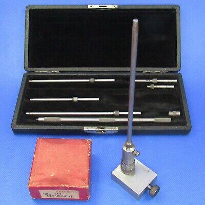Starrett 124 A Solid Rod Id Micrometer Set 447 Height Gage Att. Machinist