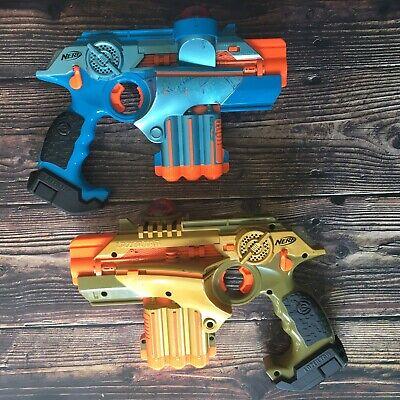 Nerf Lazer Tag Phoenix LTX Guns Blue & Gold Laser Gun (Works)