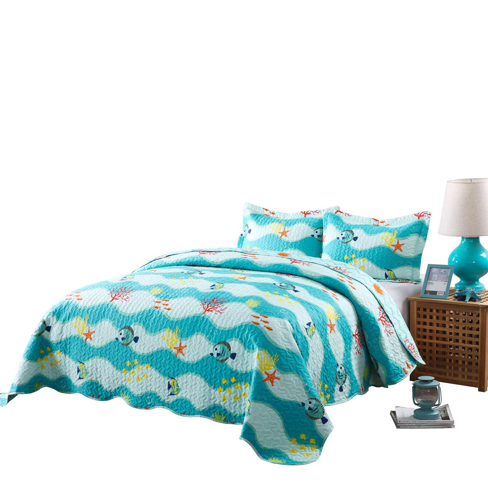 2 Pcs Kids Quilt Set Throw Blanket For Teens Boys Girls Bedd