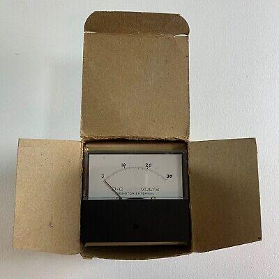 Vintage Ge General Electric Panel Meter 0-30 D-c Volt Unused Nos