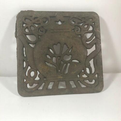 Vintage Cast Iron Footed Trivet Teapot Design