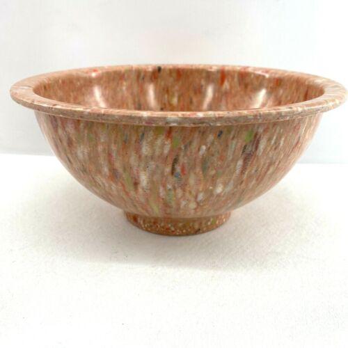 "TEXAS WARE~ Vintage Melmac Mixing Bowl 111B Confetti Splatter Colorful Orange 8"""