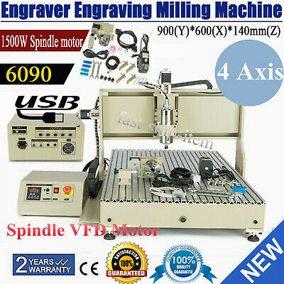 Usb 4axis 1.5kw Cnc 6090z Router Engraver Carving Milling Machinecontroller Box