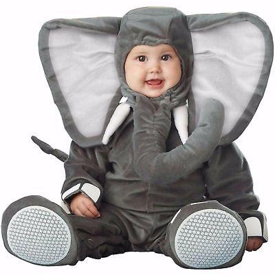 Baby Elephant Halloween Costumes (NEW NIP Baby InCharacter Lil' Elephant Halloween Costume 6/12 M Months)
