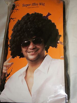 Halloween Costume Adult Super Afro Black Wig Pick Theater Dress Up Mens 70s 60s (60s 70s Dress Up)