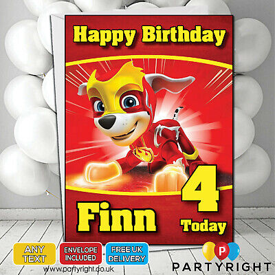 Personalised Paw Patrol Mighty Pups Marshall Kids Birthday Card • Your Name/Age](Paw Patrol Puppy Names)