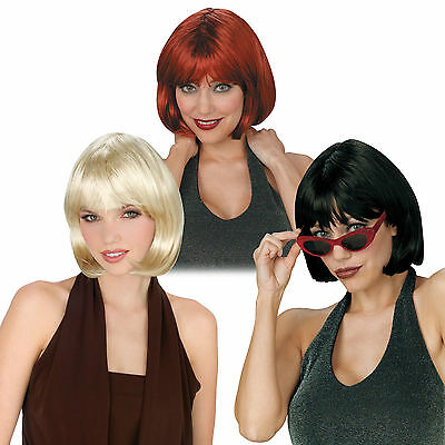 Long Blonde Blond Black Auburn Red Bob Flapper Beauty Costume Wig