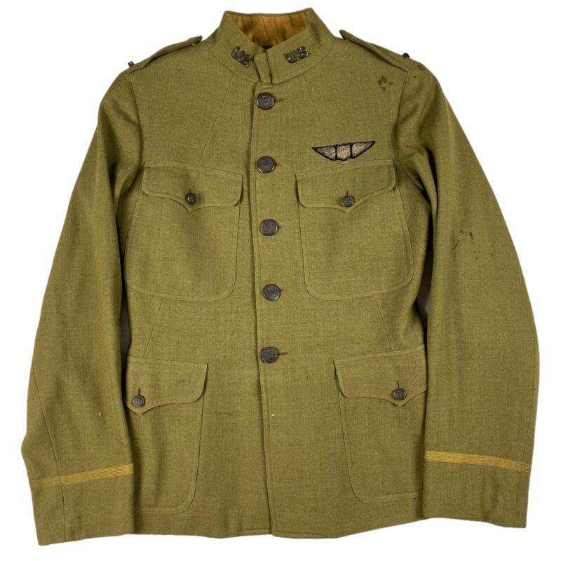 VTG WWI World War 1 Heavy Wool Top Shirt Jacket Uniform Dated 1917 P.W Lauren