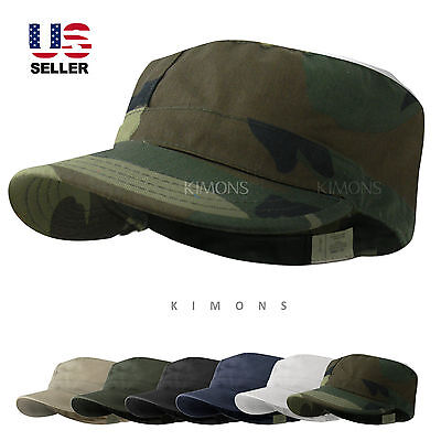 BDU Fitted Army Cadet Military Cap Hat Patrol Castro Combat -