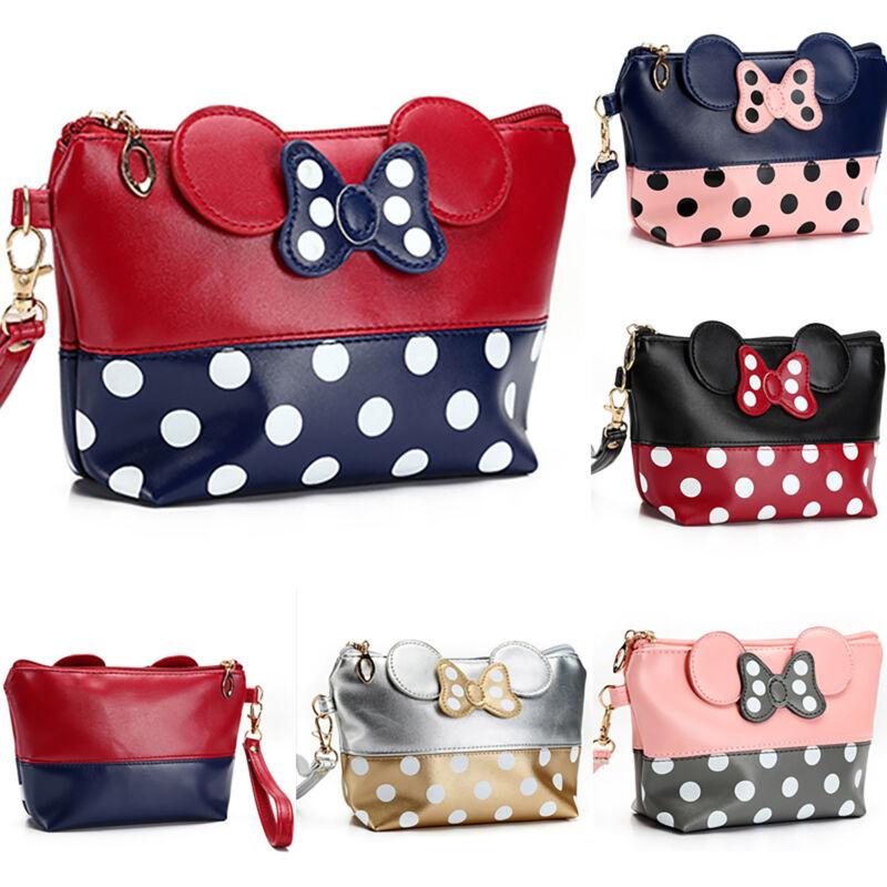 Women Travel Cosmetic Bag Cartoon Minnie Mouse Case Zipper M