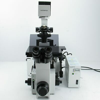 Olympus Ix70 Inverted Fluorescence Dic Microscope W10x 40x 100x Objectives