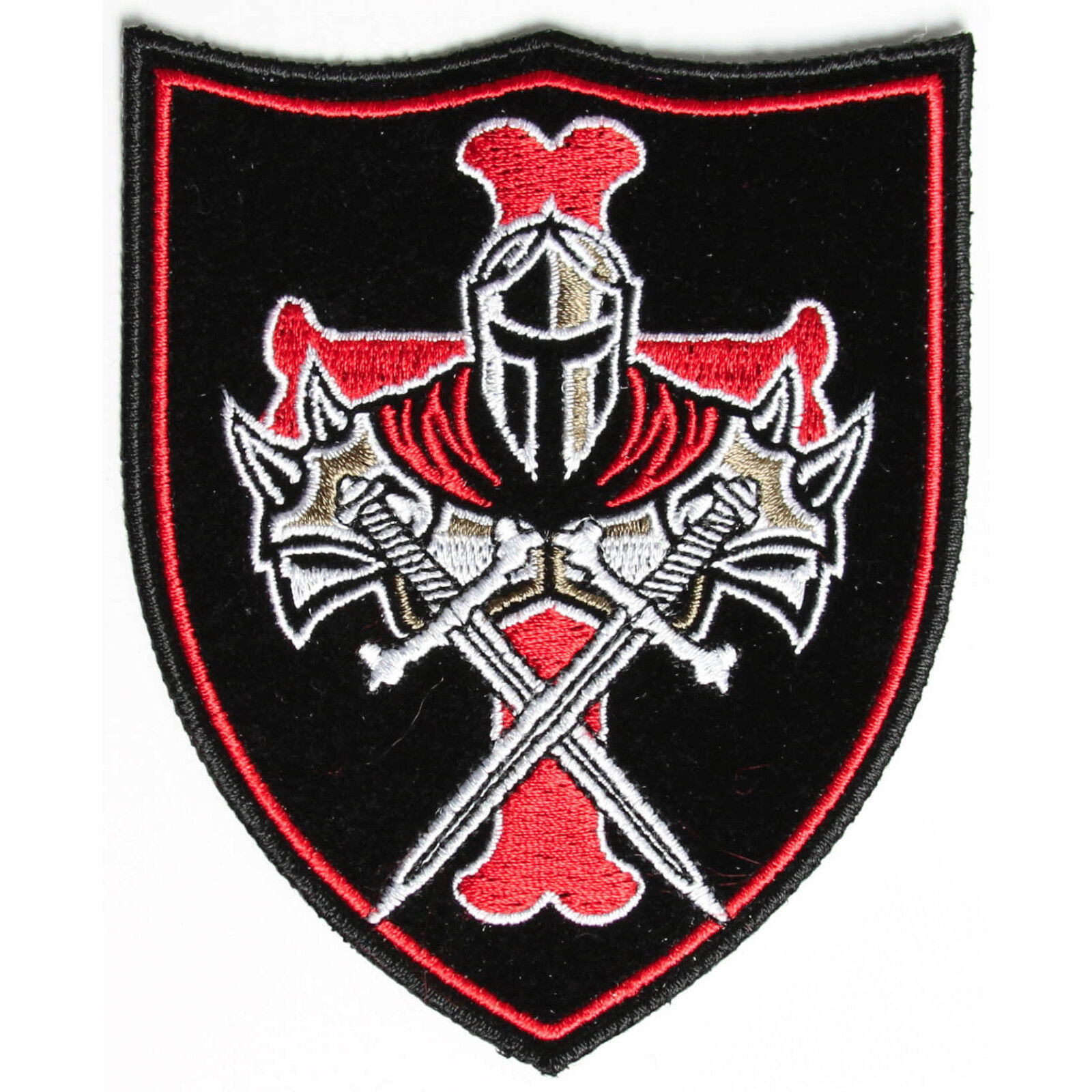 Embroidered Templar Knight Crusader Shield Sew Or Iron On