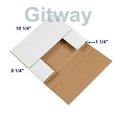 50- 10 14 X 8 14 X 1 14 Multi Depth Cardboard Book Mailer Shipping Box Boxes