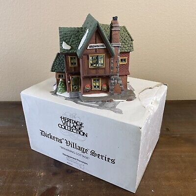 1994 Vintage Department 56 Dickens' Village Browning Cottage 58246 with Box