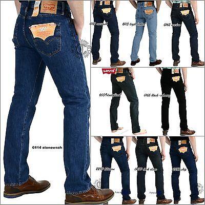 Levi's® 501® Jeans Herren Hose-viele Farben blau-schwarz-stonewash - Orig &