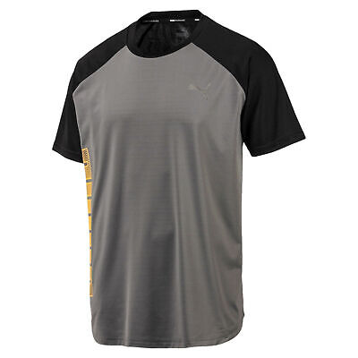Puma Collective Loud Mens Fitness Training T-Shirt Tee Grey/Black