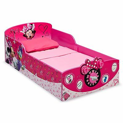 Toddler Beds For Girls Minnie Mouse Pink Bedroom Furniture Bed Frame Interactive