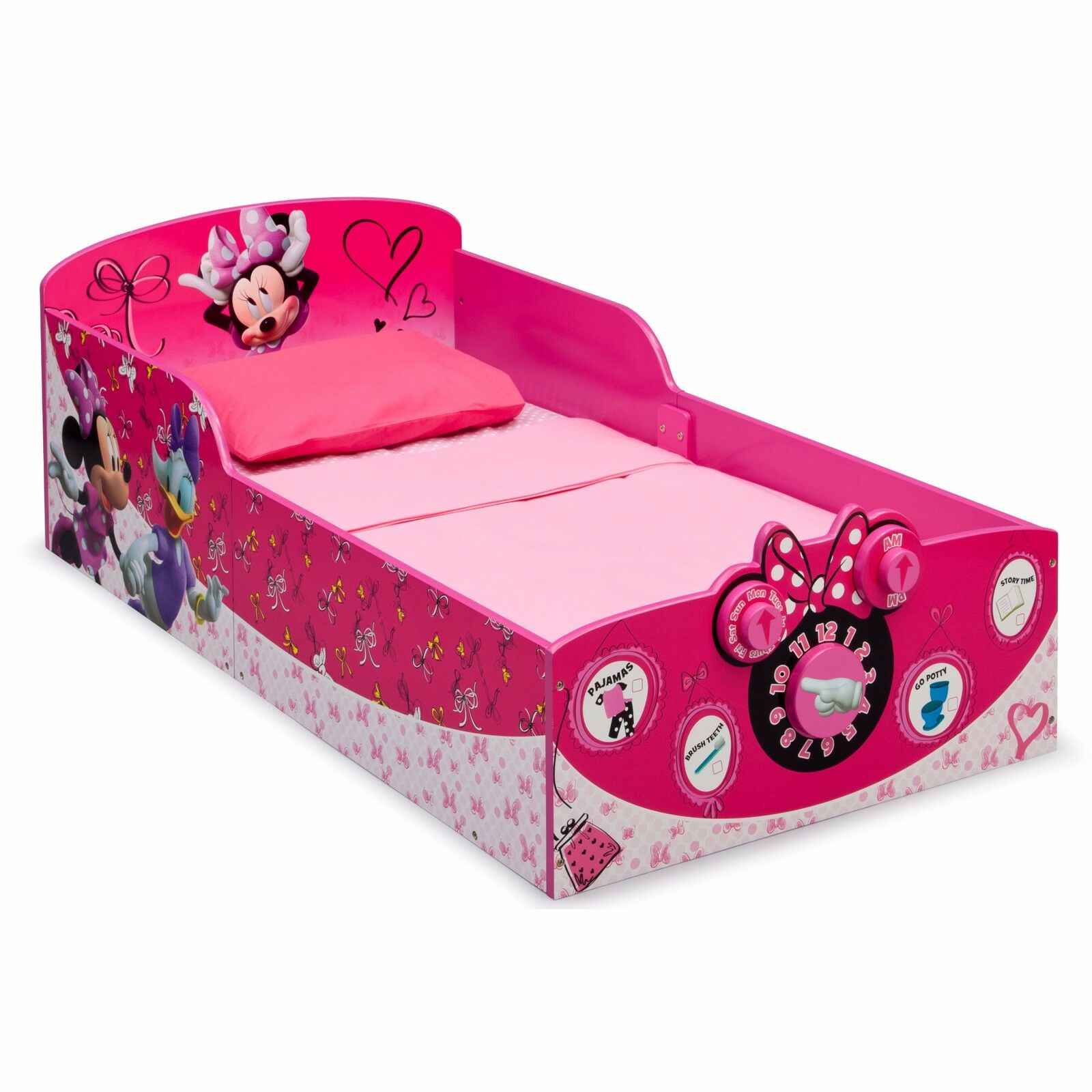 Toddler Beds For Girls Minnie Mouse Pink Bedroom Furniture B