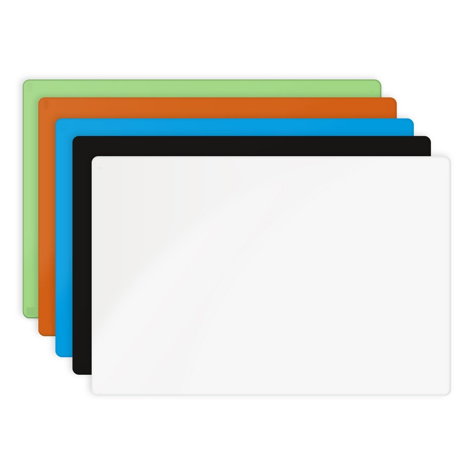 Frameless Magnetic Glass Dry-Erase Board Eased Corners by Fa