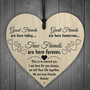 Good Friends Plaque Sign Best Friend Gift Shabby Chic Heart Birthday Christmas