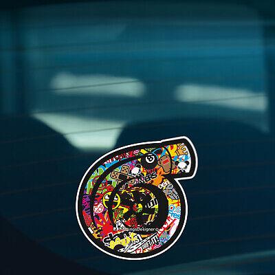 TURBO CHARGER Stickerbomb Car, Window, Bumper JDM DUB Vinyl Decal Sticker