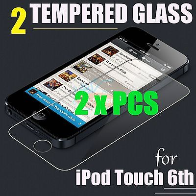 2 x Pcs Premium Tempered Glass Screen Protector Film Guard - iPod Touch 6th Gen