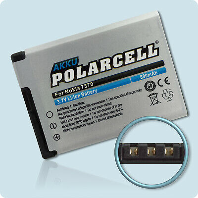 PolarCell Akku für Nokia 6111 7370 7373 2630 2760 N76 5000 7500...