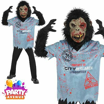 Boys Chimp Zombie Halloween Costume Science Experiment Fancy Dress Age
