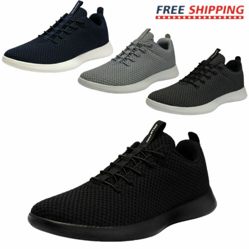 Mens Athletic Shoes SLIP ON Fashion Sneakers Knit Comfort Wa