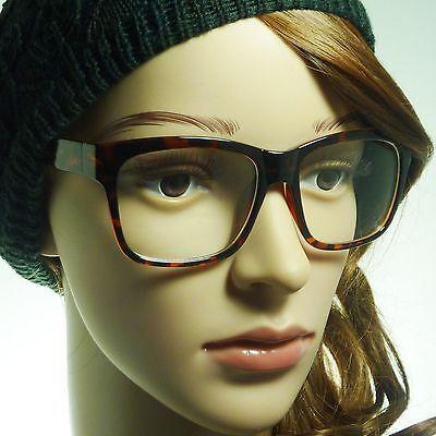 NERD Oversized Square Unisex Frame Trendy Clear Lens Eye Glasses TORTOISE NEW (Trendy Nerd)
