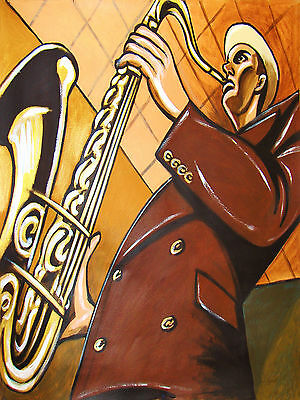 - DEXTER GORDON POSTER print tenor saxophone selmer conn king blue note go cd sax