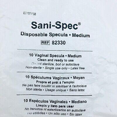 Cooper Surgical 82330 Sani-spec Vaginal Speculum Medium Disposable 10 Pc Pack