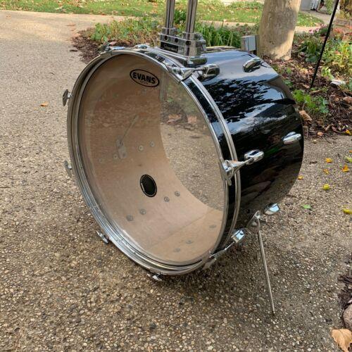 "Black Slingerland Bass Drum 14"" x 22"" x 8 Lugs for Restoration Niles Badge 56704"
