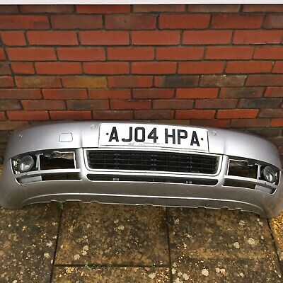 Audi a4 b6 Front Bumper complete with fogs + valance  2001 - 2004 Silver LY7W