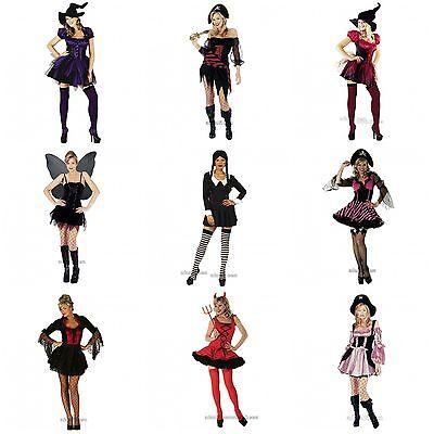 Damen Kostüm Hexe, Vampir Piraten Gotik Größen S M L XL XXL (Vampir Piraten Kostüme)