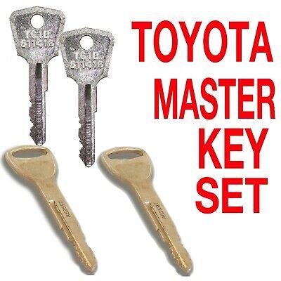Toyota Heavy Equipment Key Set 4 Keys