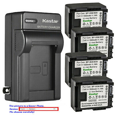 Kastar Battery AC Wall Charger for Canon BP-809 & Canon VIXIA HF M301 HFM301
