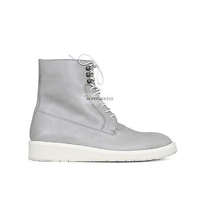 MAISON MARTIN MARGIELA GRAY VINTAGE LEATHER BOOTS FREE SHIPPING