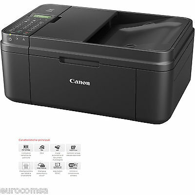 STAMPANTE CANON MULTIFUNZIONE INKJET PIXMA MX495 SCANNER COPIA FAX CLOUD WIFI