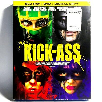 Kick Ass  3 Disc Blu Ray Dvd  2010  Like New    W  Slipcover     Nicolas Cage