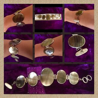 BRAND NEW MOTHER OF PEARL & SS BRACELET