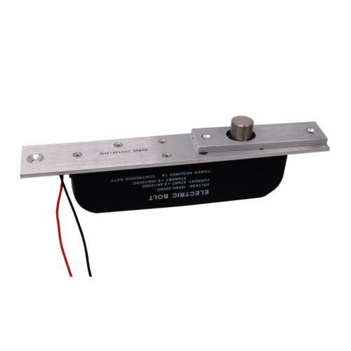 DC 12V 24V  Electric Drop Bolt Lock Door Access Control Delay Adjustable